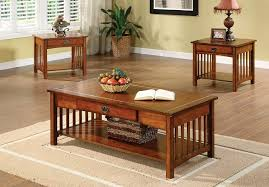 end tables coffee table natura and two end tables walnut leons l