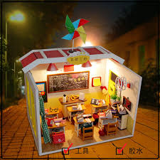 miniature doll furniture. m017 chinese classroom miniatura wooden doll house furniture dollhouse miniature accessories puzzle toy model kits toys r