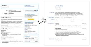 How To Add Resume To Linkedin Mesmerizing Create A Resume From Your LinkedIn Profile Resume Cover Letter