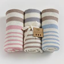 natures knits striped blanket  natures purest