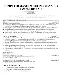 Manufacturing Skills For Resume Splendid Resumes Resume With Great