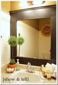 Diy mirror frame ideas Design Mdf Mirror Frame The Frugal Homemaker 10 Diy Ideas For How To Frame That Basic Bathroom Mirror