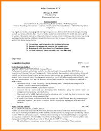 Internal Resume Internal Audit