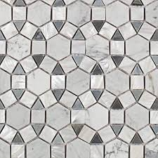 splashback tile noble hexagon pearl white carrera and moonstone marble tile 3 in x