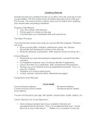 Resume Objective Section Sample Resume Sample Objective Statements Resume Career Objective ...