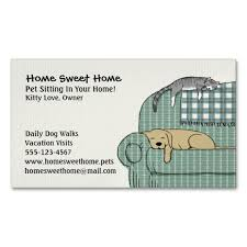 Pet Sitter Business Cards Cute Dog And Cat Pet Sitting Animal Services Magnetic Business