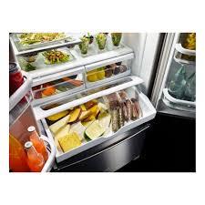 Kitchen Aid French Door Krff305ess Kitchenaid 36 25 Cu Ft French Door Refrigerator