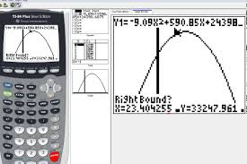 6 8b quadratic word problems on graphing calculator