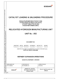 Catalyst Procedure Personal Protective Equipment Leak