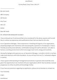 Management Cover Letter Operations Manager Cover Letter Example Learnist Org