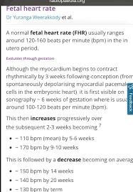 Fetal Heart Rate Chart Gender First Trimester Fetal Heart Rate Chart Glow Community