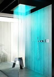 Experience that Oh! So Cool Shower with this Bathroom illuminated in blue  lights.