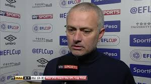 jose mourinho gives second interview to sky sports after efl jose mourinho did not have much to say after his side made it through to the