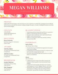 Account Planner Resumes Pink Floral Pattern Professional Florist Resume Templates By Canva
