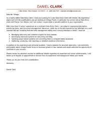 Data Entry Clerk Cover Letter Sample Things To Do Pinterest