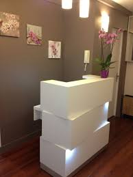 things on beauty salon reception desk impressive bedroom decor pertaining to new residence spa reception desk ideas