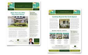 Microsoft Office Publisher Newsletter Templates Free Microsoft Office Newsletter Templates Residential Real Estate