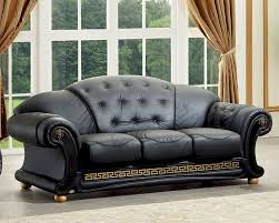 Versace Living Room Furniture Black Loveseat In Classic Style Versace Esfvel