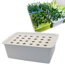 loune week hydroponic kit 24 holes plant site hydroponic kit garden pots planters seedling pots indoor cultivation box grow kit bubble nursery pots 1 set
