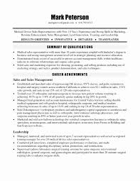 Medical Device Sales Resume Unique 51 Inspirational Resume Format