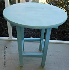 vintage paint and more diy wood patio table painted with diy chalk