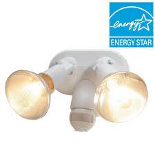 newport coastal santee 130 degree white motion sensing outdoor lamp