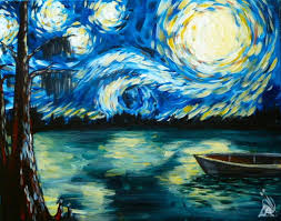 how to paint starry night at the lake single s only