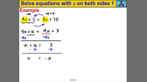 solve equations with x on both sides 1