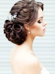 Hairstyles For Weddings Wedding Hair Style Braid Lateral