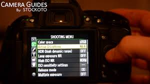 how to set active d lighting or dynamic range on a nikon d5100 d5200 d5300 you