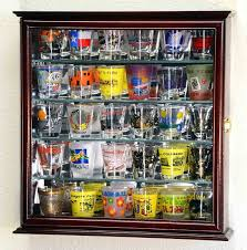full size of shelves shot glass curio cabinet clear acrylic with aluminum standoffsrhdisplaysgocom com es display