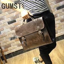 Designer Men briefcase <b>Crazy horse Leather</b> Shoulder Bags ...