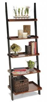 furniture ladder shelves. leaning bookshelf ladder brown cherry furniture shelves
