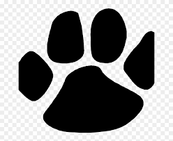 rose ave school cougar paw print clipart 235588
