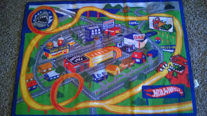 picture of kids hot wheels car mat