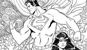 superman and wonder woman coloring pages with exclusive dc comics book covers for