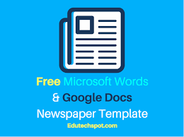 Newspaper Template For Google Docs 25 Free Google Docs Newspaper And Newsletter Template For Classroom