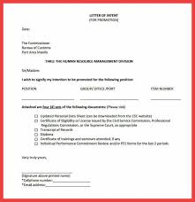 promotion letter of intent letter of intent for promotion within panye