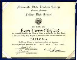 High School Deploma Roger Heglands High School Diploma