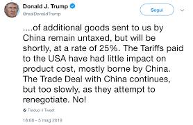 USA-Cina: si inasprisce la guerra dei dazi