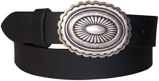 mexicana uni ethnic style leather belt oval plaque buckle mexican design antique silver buffalo leather belt
