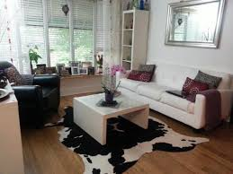 details about black white cowhide rug cow skin leather area rug