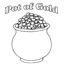 Small Picture A Pot of Gold Full of Coins Coloring Page Download Print