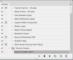 using the automator script favicon creator