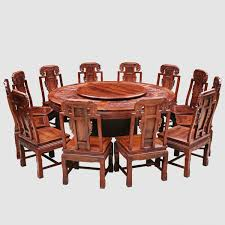 classical chinese african acid branch non acid 1 8 meters round table thirteen pieces