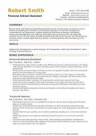 Sample Resume For Financial Services Financial Advisor Resume Samples Qwikresume