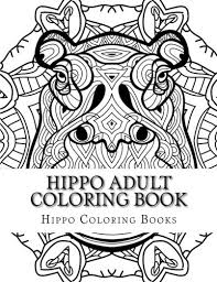 hippo coloring book large print one sided stress relieving relaxing hippo coloring book for grownups women men youths easy hippo designs