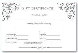 Salon Gift Certificate Template Free Download Beauty Hair Salon Gift