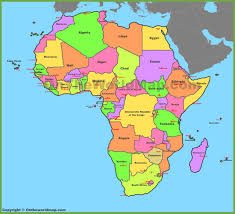 map of africa with countries and capitals