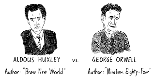 amusing ourselves to death comics reflections stuart mcmillen blog george orwell cartoon aldous huxley drawing amusing ourselves to death comic neil postman